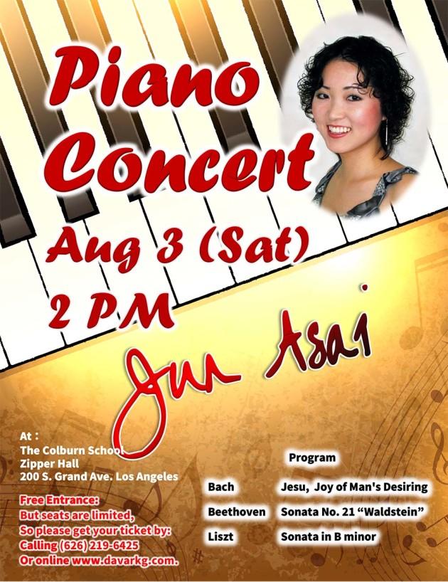 Jun Asai Piano Concert 2019