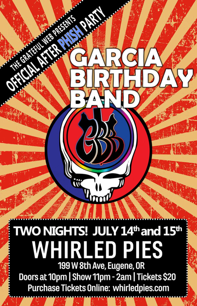 Garcia Birthday Band at Whirled Pies in Eugene Oregon