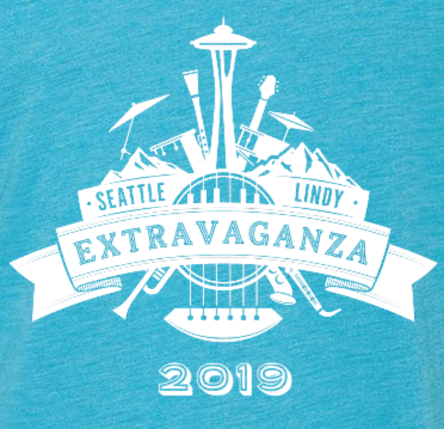 Seattle Lindy Extravaganza 2019 Shirt Design