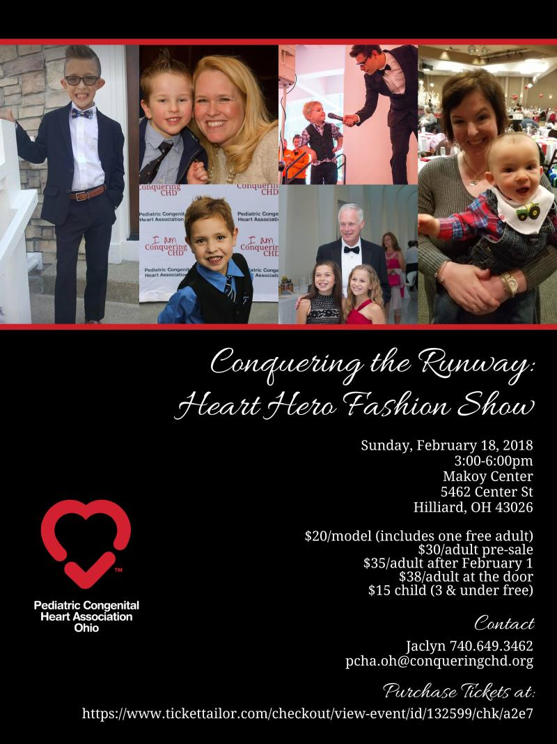 Buy tickets for Columbus - Conquering the Runway: Heart Hero Fashion