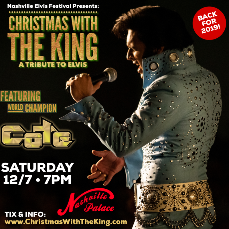 Buy tickets for Christmas with the King: A Tribute to Elvis at The Nashville Palace, Sat 7 ...