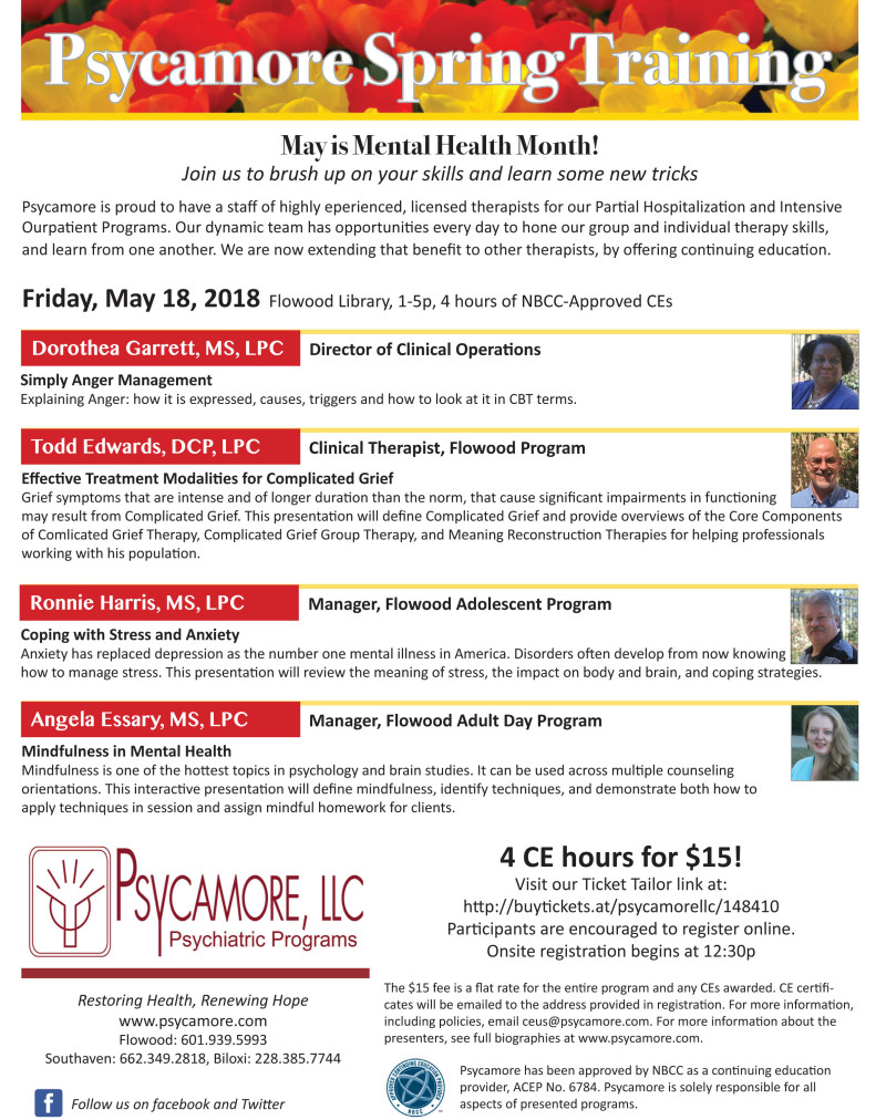 Buy tickets for Psycamore Spring Taining at Flowood Library