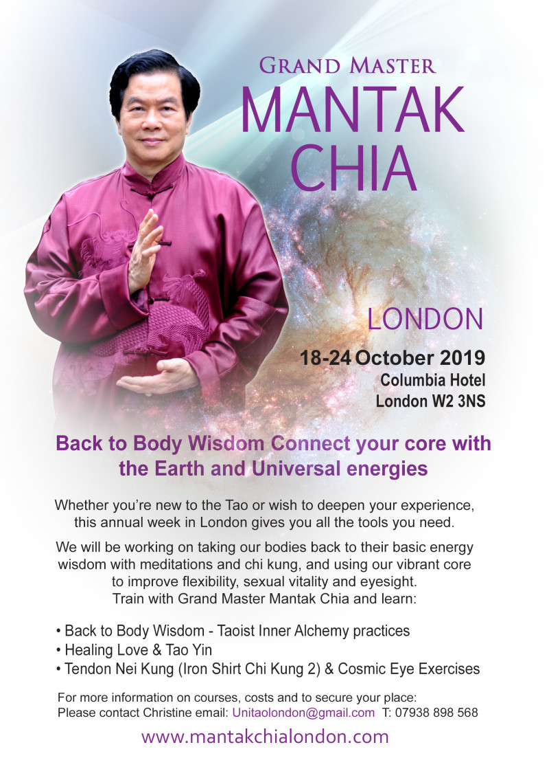 Buy tickets for Mantak Chia London 2019 at The Columbia
