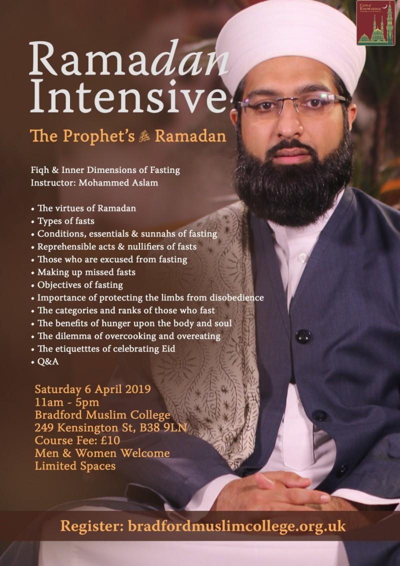 Buy tickets for Bradford Ramadan Intensive - The Prophet's